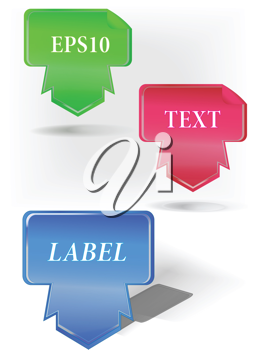 Royalty Free Clipart Image of Ribbons