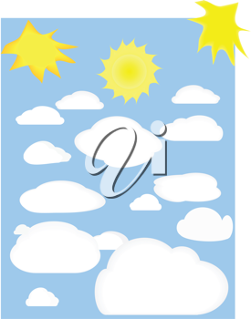 Royalty Free Clipart Image of Clouds