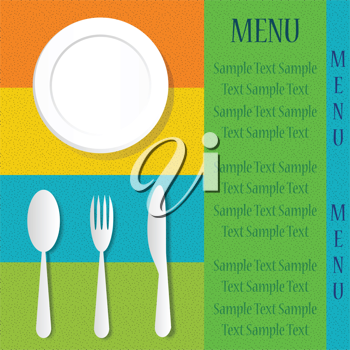 Royalty Free Clipart Image of a Menu Template
