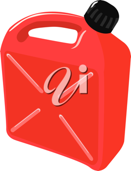 Royalty Free Clipart Image of a Gasoline Can