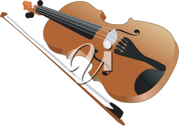 Royalty Free Clipart Image of a Violin
