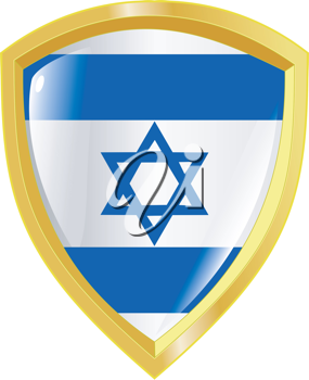Coat of arms in national colours of Israel