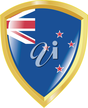 Coat of arms in national colours of New Zealand