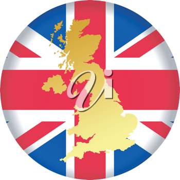 An illustration with button in national colours of United Kingdom