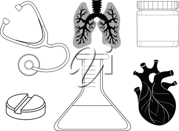set of healthcare related icons