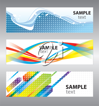 Royalty Free Photo of a Set of Abstract Vector Backgrounds