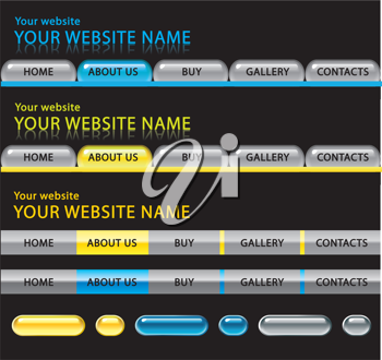 Royalty Free Clipart Image of a Website Template