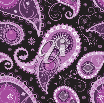 Royalty Free Clipart Image of a Seamless Paisley Background