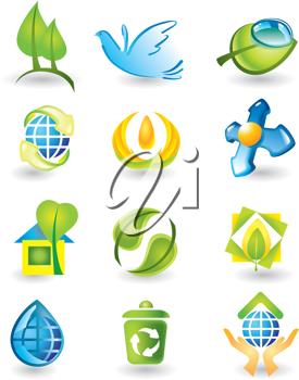 Royalty Free Clipart Image of Nature Designs