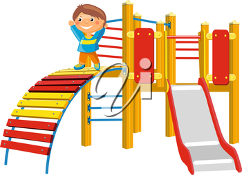 Playground for children. Vector Illustration