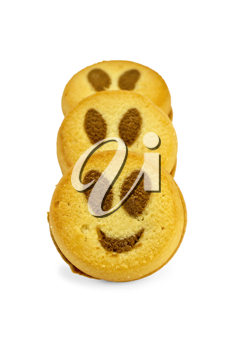 Royalty Free Photo of Cookies With Smiley Faces