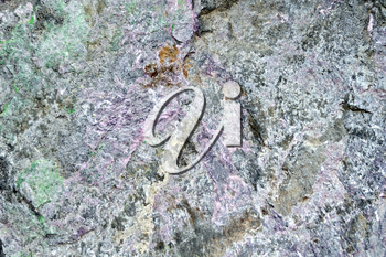 Texture of natural gray, pink and green granite stone
