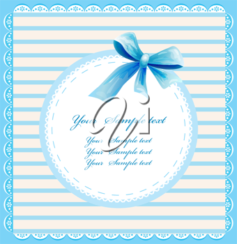 Royalty Free Clipart Image of a Blue Invitation
