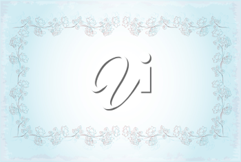 Royalty Free Clipart Image of a Vintage Style Invitation