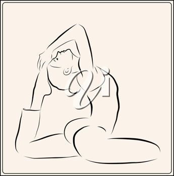 Royalty Free Clipart Image of a Woman Exercising