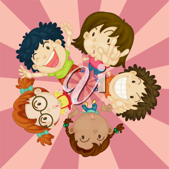 Royalty Free Clipart Image of Happy Children