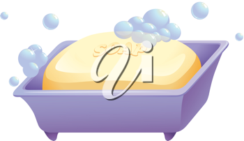 illustration of soap and soapcase on a white background