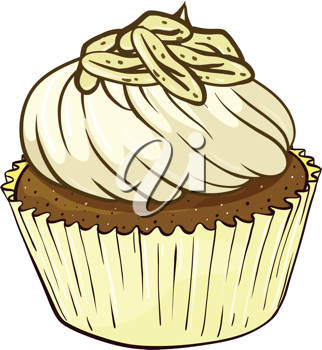 Illustration of an isolated cupcake