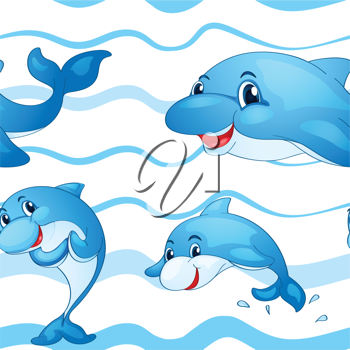 illustration of a dolphin on a white background