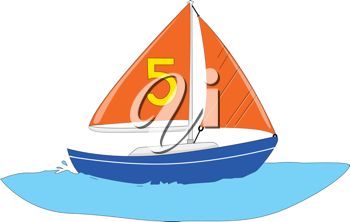 Illustration of a sail boat yacht