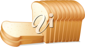 illustration of a bread slices on a white background