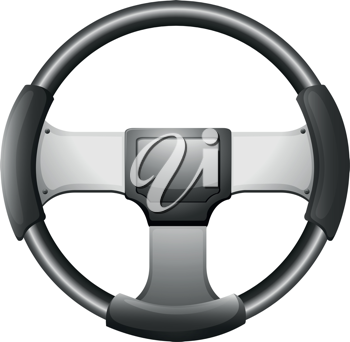 Illustration of a steering wheel on a white background