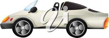 Illustration of an elegant sports car on a white background