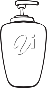 Illustration of a liquid container on a white background