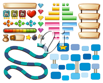Game template with other elements illustration