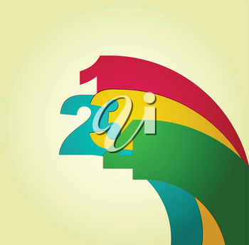 Royalty Free Clipart Image of a Number Background