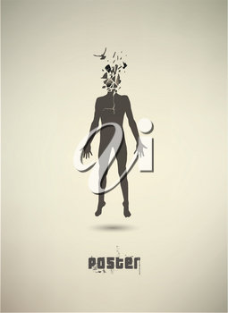 Royalty Free Clipart Image of a Conceptual Poster of a Person