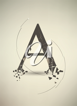 Royalty Free Clipart Image of the Letter A