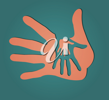 Royalty Free Clipart Image of Caring Hands