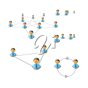 Royalty Free Clipart Image of a Network Concept