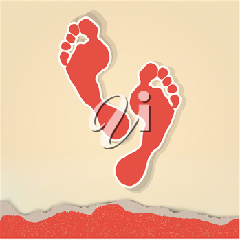 Royalty Free Clipart Image of Footprints
