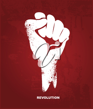 Royalty Free Clipart Image of a Clenched Fist