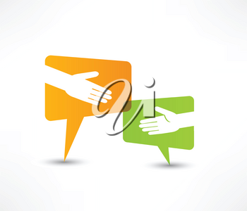 Royalty Free Clipart Image of a Handshake Concept