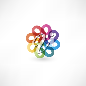 Full color abstract figure of the numbers 9