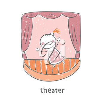 Actor in the theater