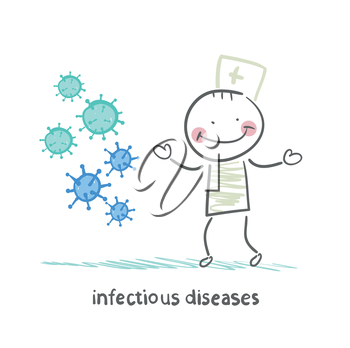 infectious diseases stands next to infection