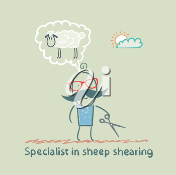 expert thinks about how to shear sheep