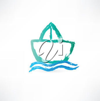 ship on the waves icon