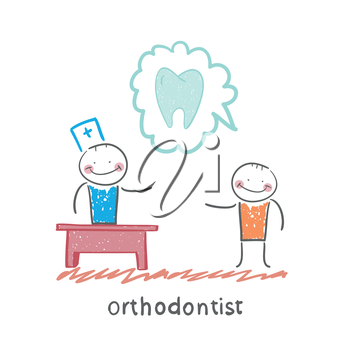orthodontist says to a patient about tooth