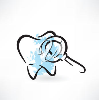 tooth grunge icon