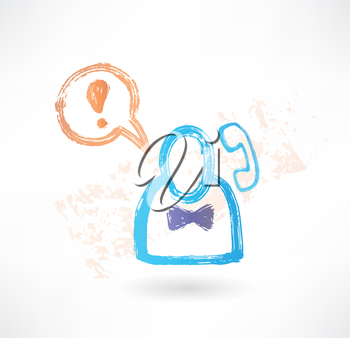 Brush icon with man and a handset.