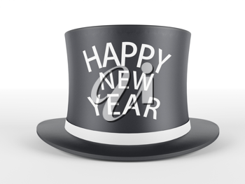 Royalty Free Clipart Image of a Happy New Year Hat