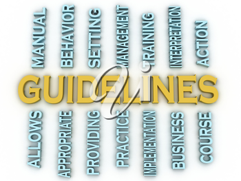 3d image Guidelines issues concept word cloud background