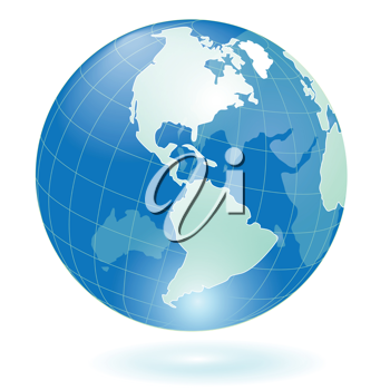 Royalty Free Clipart Image of a Blue Globe