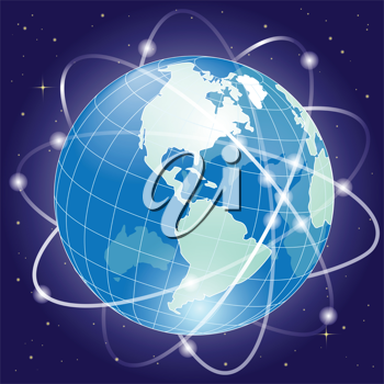 Royalty Free Clipart Image of Planet Earth