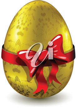 Royalty Free Clipart Image of a Golden Egg